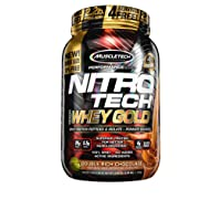 MuscleTech NitroTech Whey Gold Protein Powder Chocolate 2.2-lb Deals