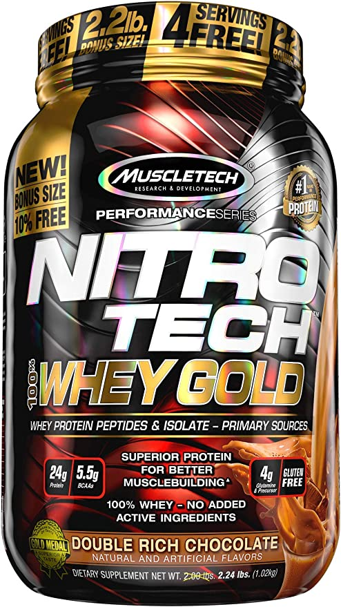 Nitro Tech 100% Whey Gold (1,13Kg), Muscle Tech por Muscletech