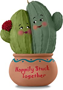 Hallmark Keepsake Christmas Ornament 2018 Year Dated, Our First Christmas, Happily Stuck Together Cactus