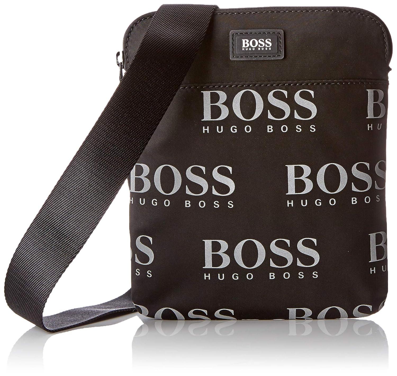 2e0aebfeed6f BOSS Iconic_s Zip Env, Men's Shoulder Bag, Black, 0.1x24x22 cm (B x ...