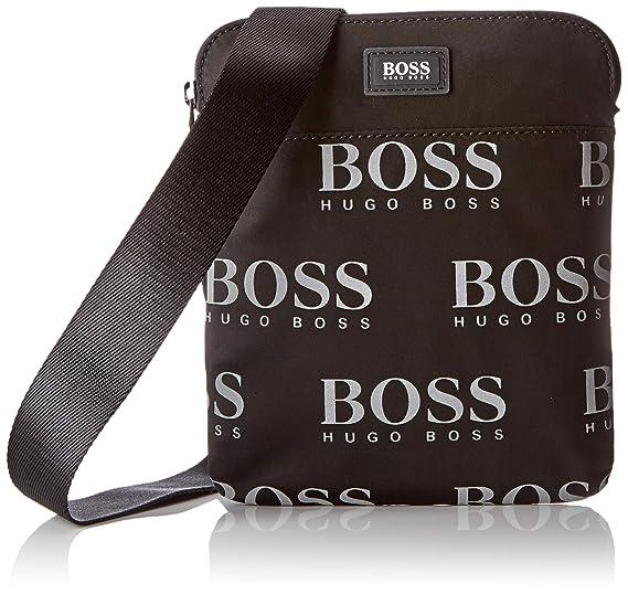 693e6ff8997 BOSS Iconic_s Zip Env, Men's Shoulder Bag, Black, 0.1x24x22 cm (B x ...