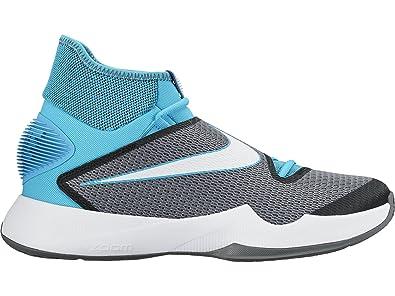 Nike Men's Zoom HyperRev 2016 Basketball Shoe Omega Blue/Black/White 12