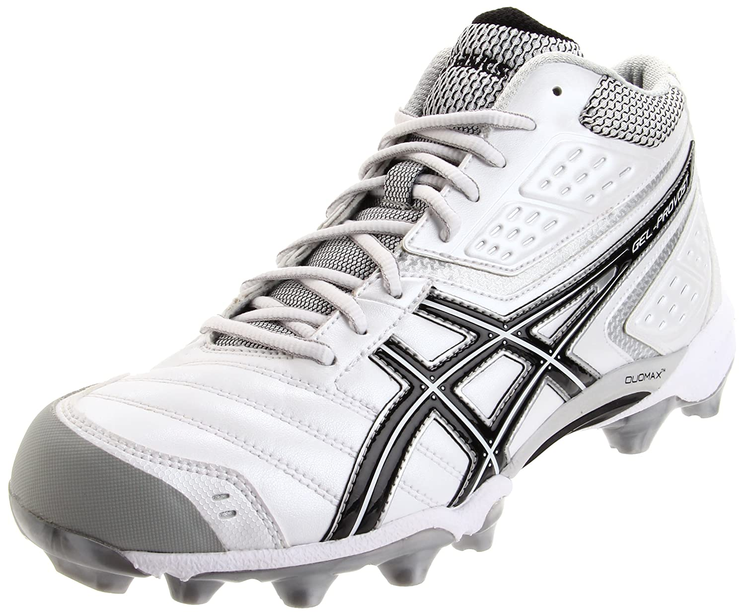 ASICS Mens GEL-Provost Lacrosse Cleat,White/Black/Silver,13 M US: Amazon.es: Zapatos y complementos