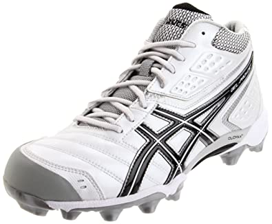 ASICS Men's GEL-Provost Lacrosse Cleat,White/Black/Silver,9 M