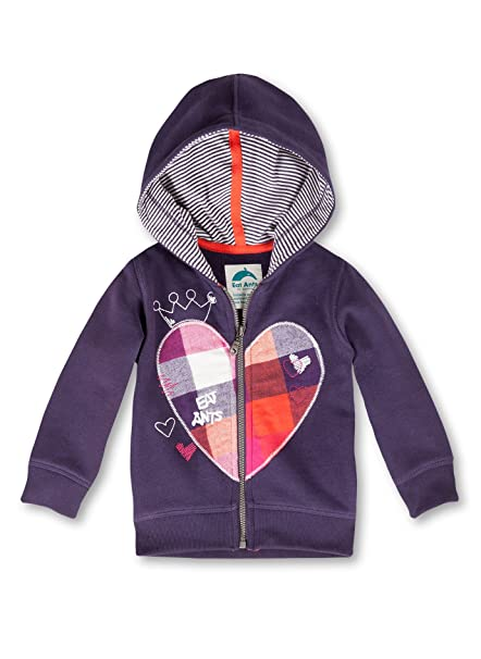Sanetta - Abrigo para niña violeta de 100% algodón, talla: 98cm (3