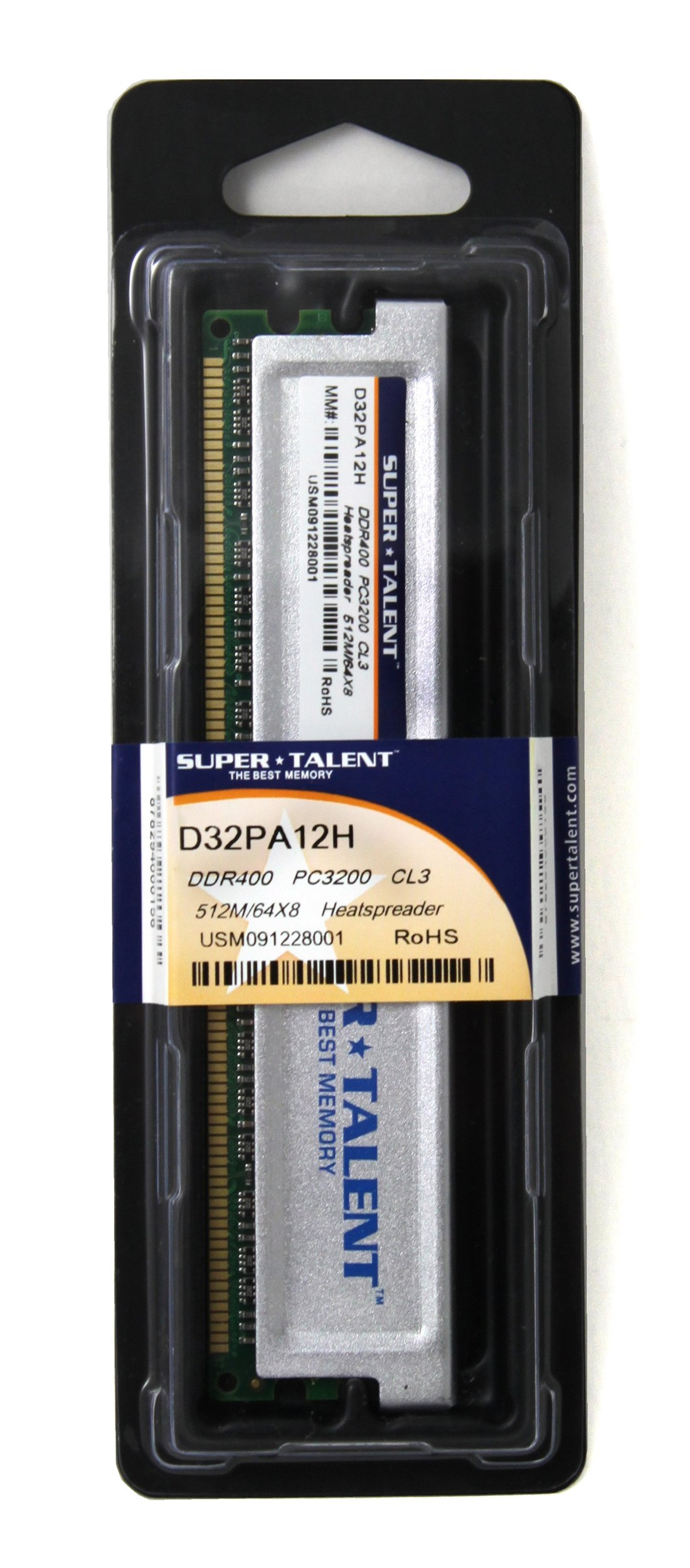 Super Talent DDR400 512MB/64X8 CL3 8CH Memory (PC and MAC G5) D32PA12H by Super Talent (Image #2)