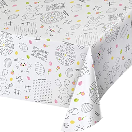 Easter Activity Tablecloths 3 Ct Health Personal Care
