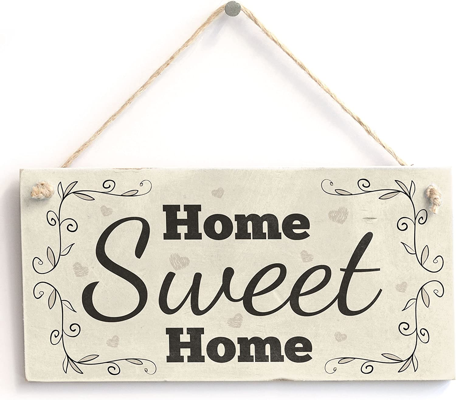 Home Sweet Home - Handmade Shabby Chic PVC Sign/Plaque