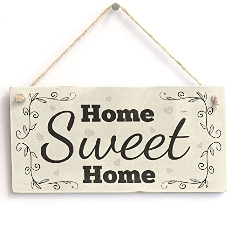 Amazon.com: Home Sweet Home – hecho a mano Shabby Chic PVC ...