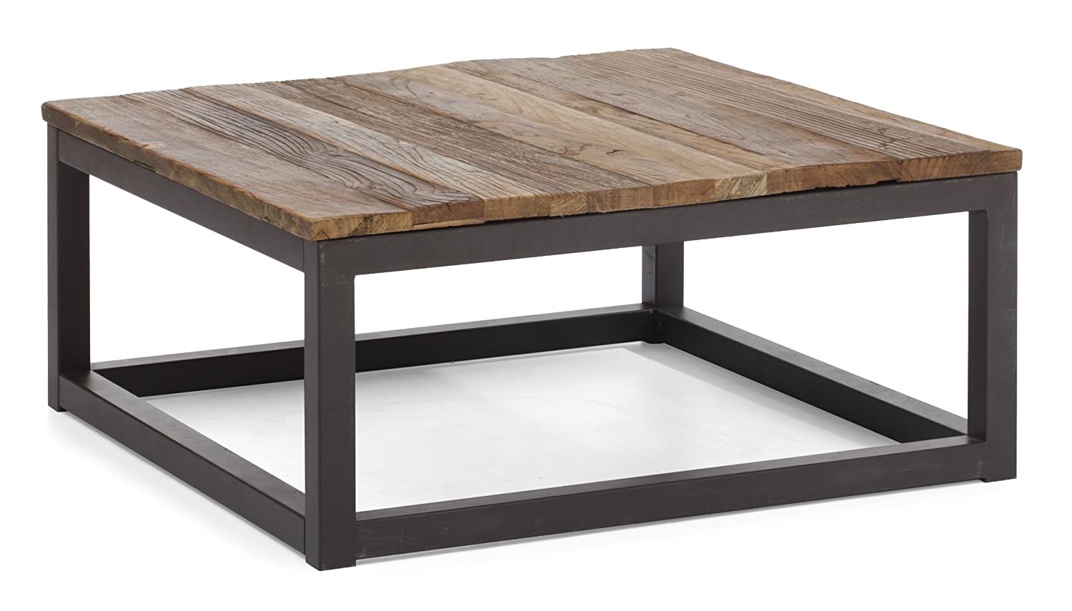amazoncom zuo modern civic center square coffee table  - amazoncom zuo modern civic center square coffee table distressed naturalkitchen  dining