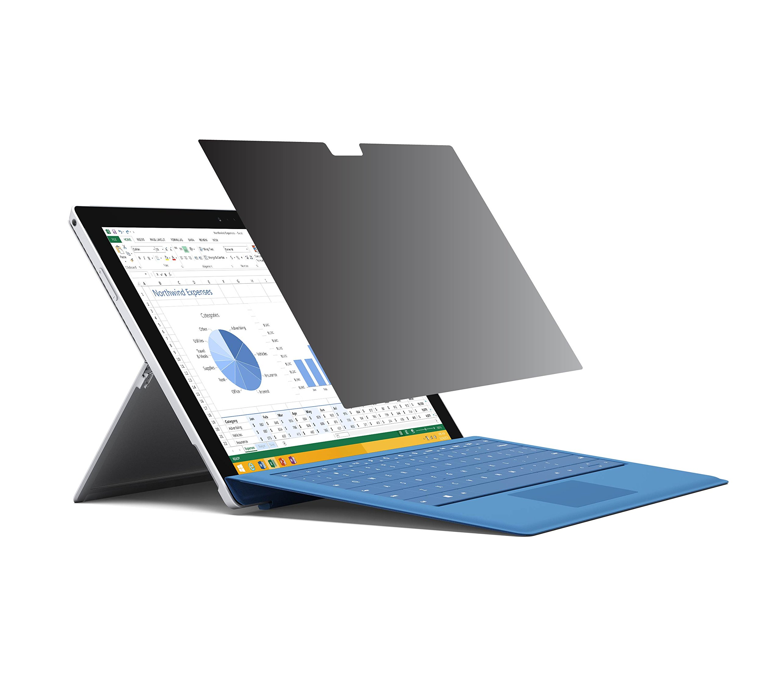 Privacy Screen Protector (360 degree privacy protection) for Microsoft Surface Pro 4 and New Surface Pro 2017 (Surface Pro 5)