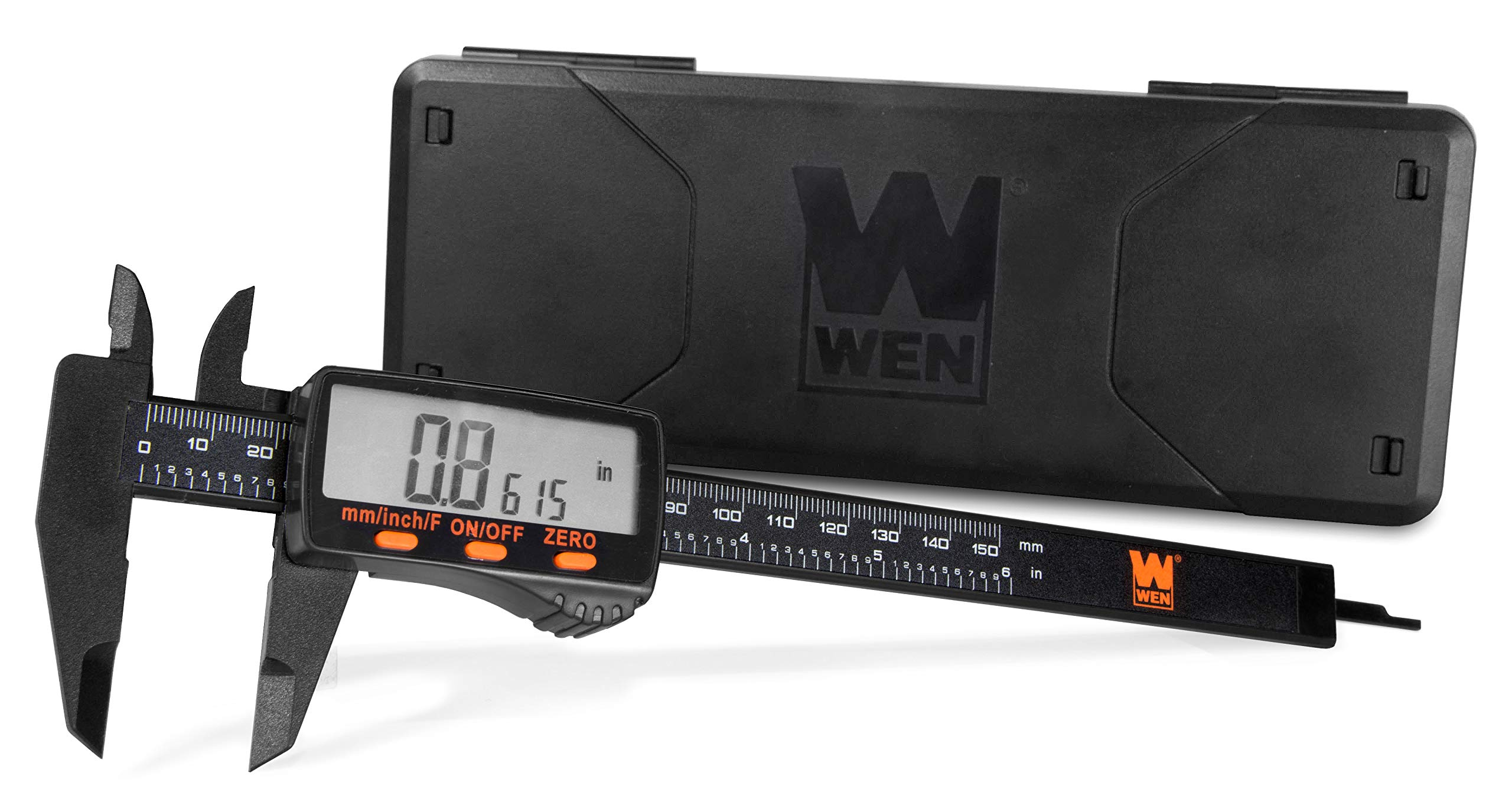 WEN 10761 Electronic 6.1-Inch Digital Caliper with LCD Readout and Storage Case