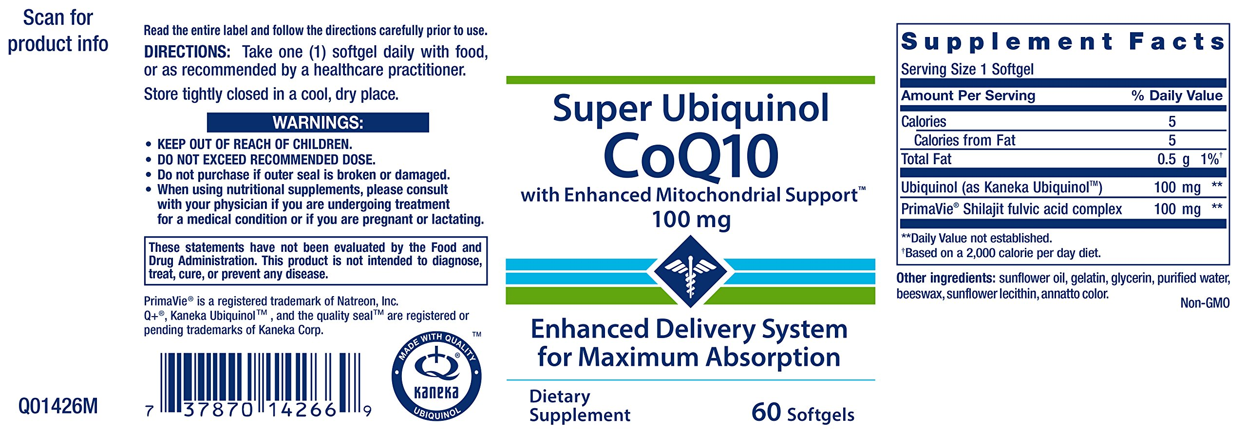 Life Extension Super Ubiquinol COQ10 with Enhanced Mitochondrial Support 100 mg 60 Softgels by Life Extension (Image #2)