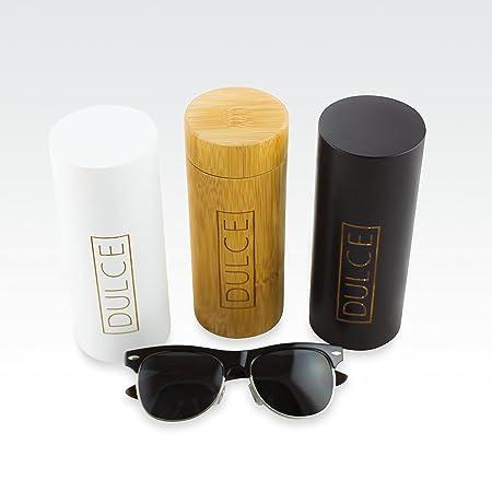 Dulce Gafas de Sol polarizadas Clubmaster de Madera de Rosa, protección UAV UAB, con Funda de bambú para Gafas de Sol: Amazon.es: Hogar
