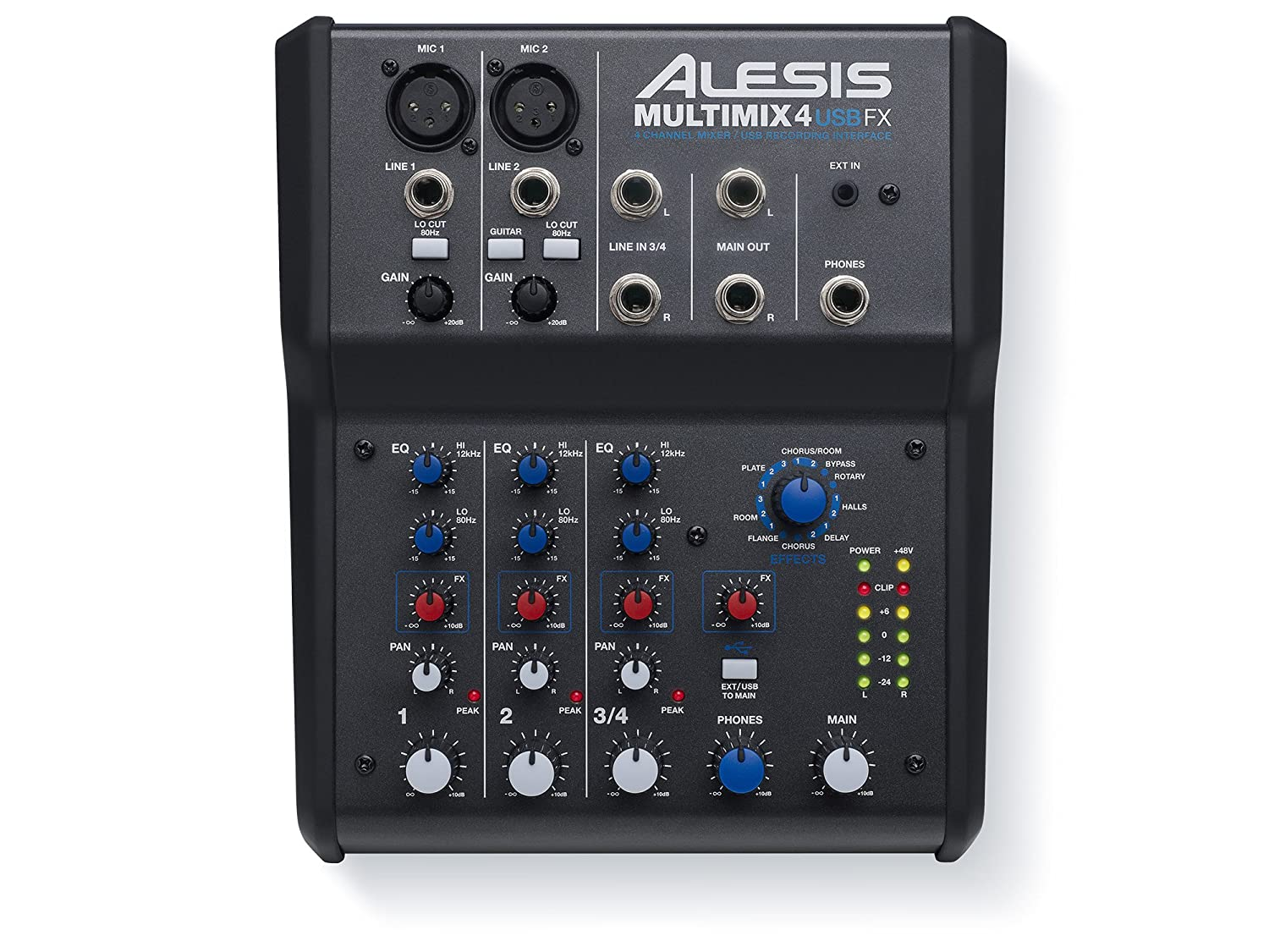 Alesis Multimix 8 Usb Fx Channel Mixer With Effects Microphone Xlr Wiring Diagram Audio Interface Musical Instruments