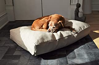 product image for Bean Products Premium Hemp Dog Bed   Made in USA from 100% Organic Sustainable Materials   CertiPUR Foam Fill   Machine Washable Cover   Fits Pugs to Mastiffs