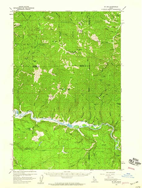 Amazon.com : YellowMaps St Joe ID topo map, 1:62500 Scale ...