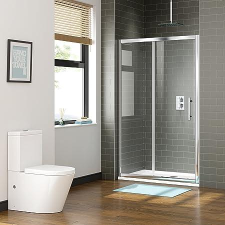 Ibathuk 1100 X 800 Premium Sliding 8mm Easy Clean Glass Shower