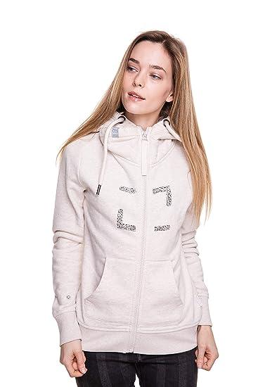 Zhrill Damen Sweatjacke Zip Hoody Kapuzenjacke mit Reißverschluss Aura