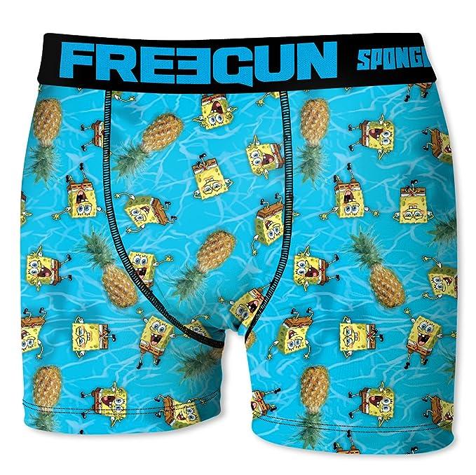 33394fb36f Freegun Boxershort Herren SpongeBob Schwammkopf Ananas: Amazon.de:  Bekleidung