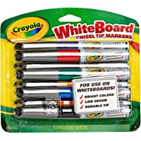 Crayola, Whiteboard Markers, 8 Classic Colours, Chisel Tip, Boardroom, Classroom, Easel, Easy Erase, Dry Erase