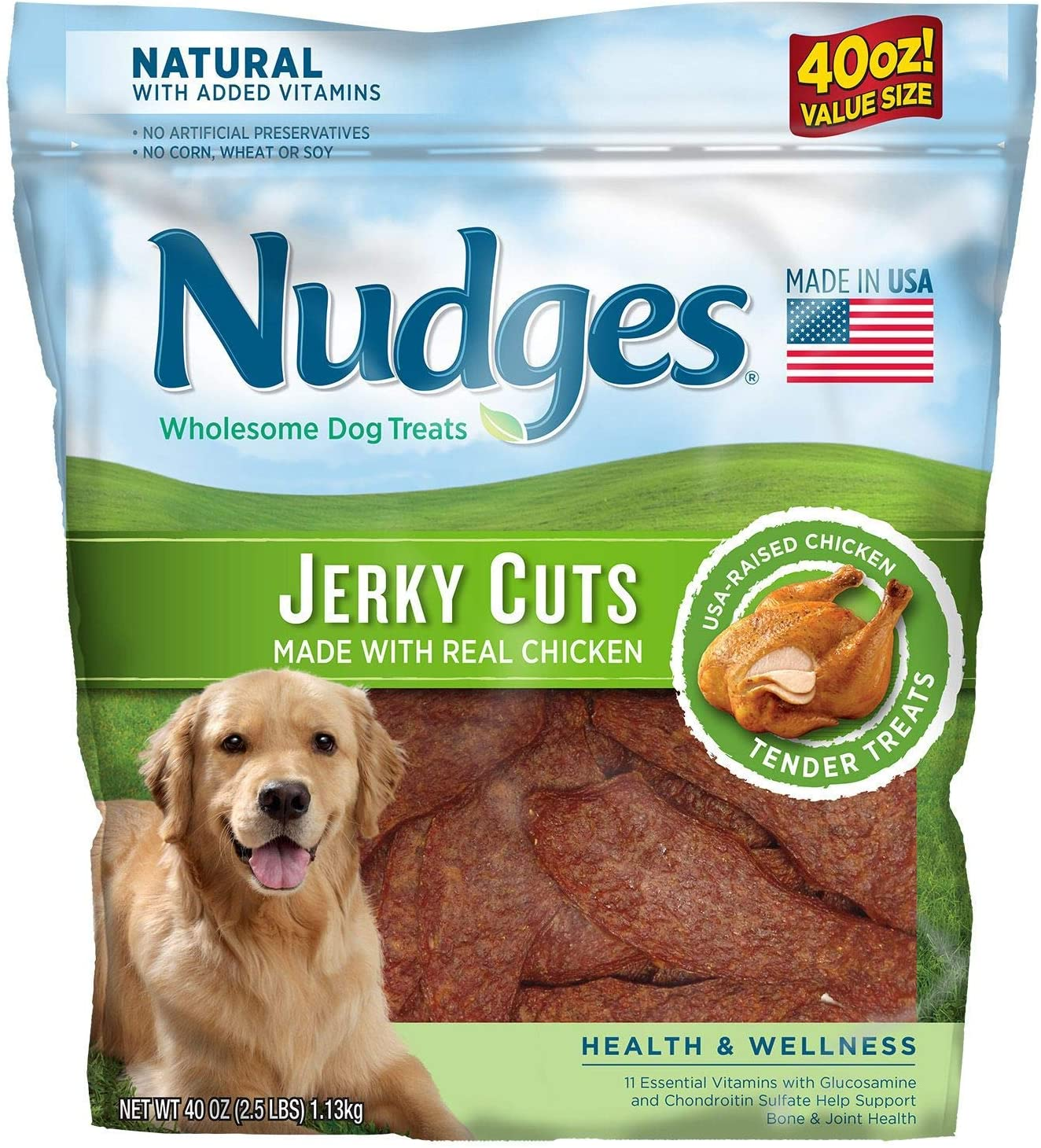 Nudges Chicken Jerky Cuts, 40 oz.