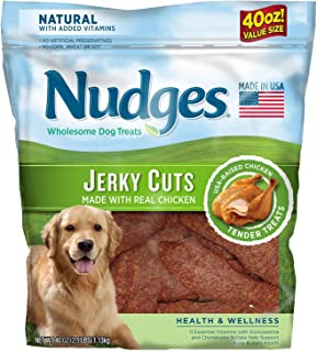 product image for Nudges Health & Wellness Chicken Jerky Cuts Wholesome Dog Treats (2 Pack of 36 oz.)