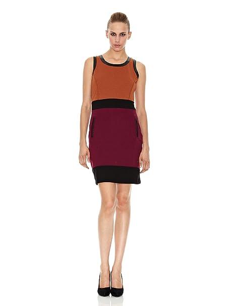 SideCar Vestido Punto Roma Naranja XS