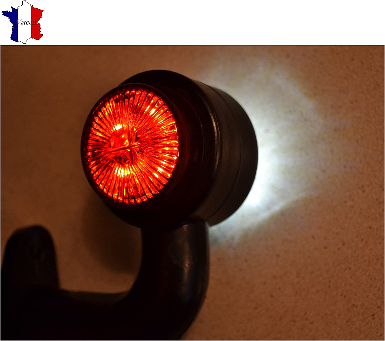 IVATECH 1 X 12V Orange SMD 2 LED FEU DE GABARIT pour Camion REMORQUE Caravane Chassis