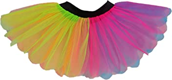 73f318746a Neon Pink 80's Tutu Skirt 2 Layer Fancy Dress Petal Fun Run 80s Night