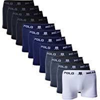 Kit 12 Cuecas Boxer, Polo Wear, Masculino