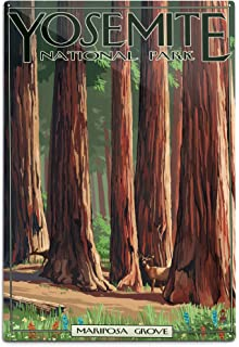 product image for Lantern Press Yosemite National Park, California, Mariposa Grove (12x18 Aluminum Wall Sign, Wall Decor Ready to Hang)