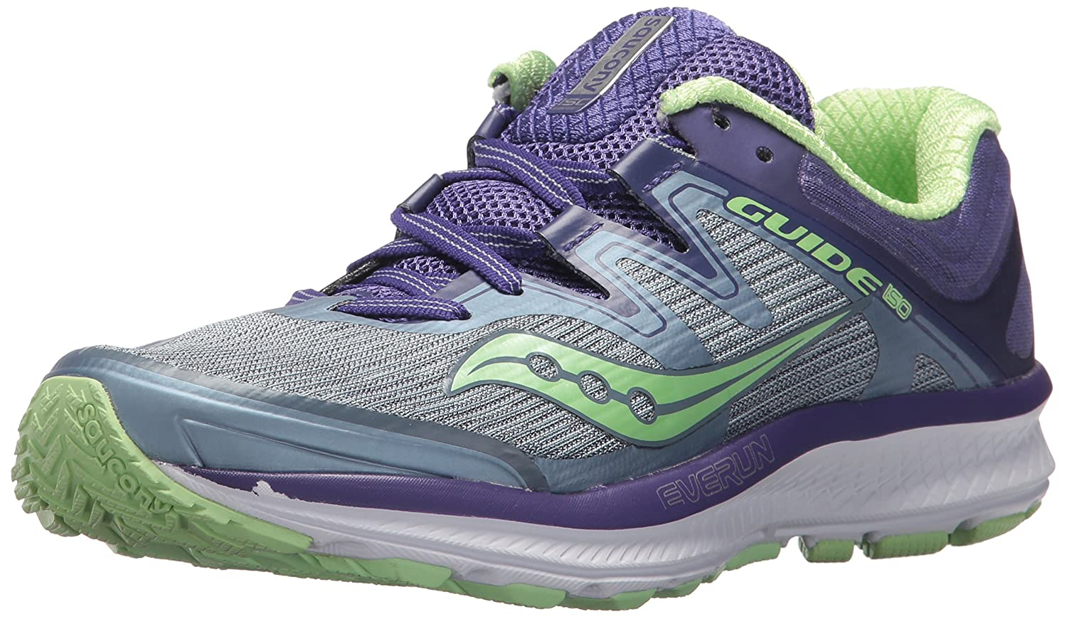 Saucony Women's Guide Iso Running Shoe B072QFFBP8 5.5 W US|Fog/Purple