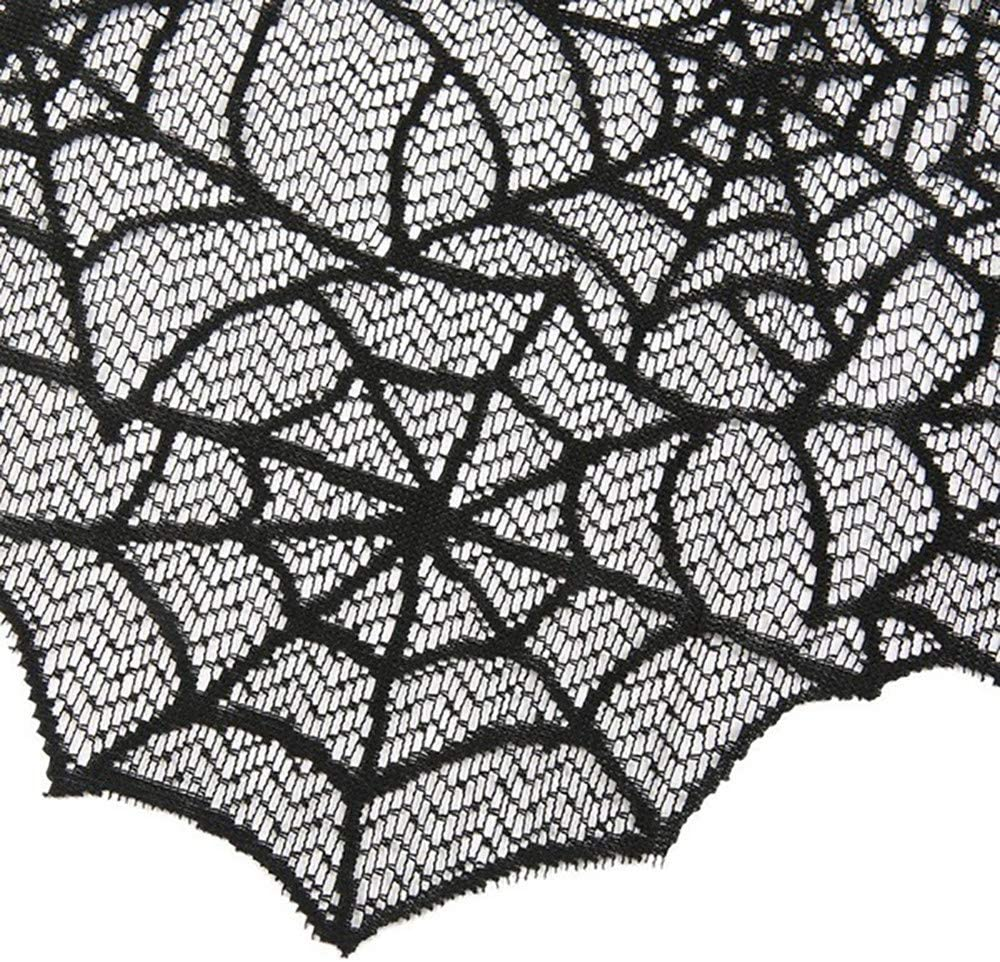 New Black Pink Green Purple White Red Spiders Web Lace Skirt Party Gothic Rock