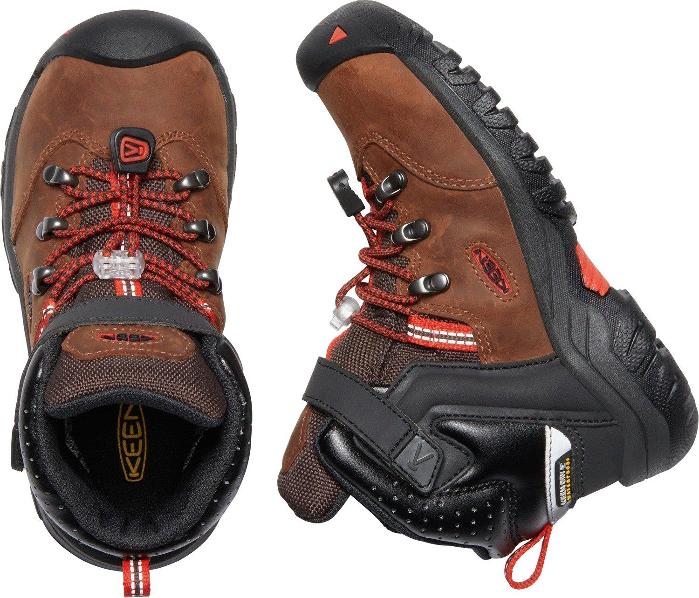 KEEN - Kid's Torino II Mid Waterproof Winter Boots, Tortoise Shell/Fiery Red, 8 M US Big Kid by KEEN (Image #4)