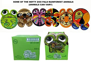 Hefty Zoo Pals Rainforest Paper Plates 20 Ct 7 375 Inch Case Of 8