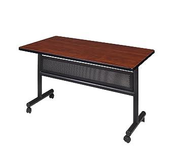 Sensational Kobe 48 X 30 Flip Top Mobile Training Table With Modesty Cherry Interior Design Ideas Clesiryabchikinfo