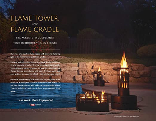 HY-C FLT Flame Tower, Fire Accent for Outdoor Living/Enjoyment, 13 50