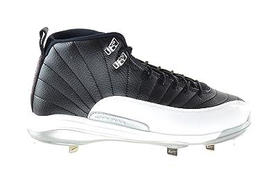 competitive price 71aa4 e82e9 Jordan Air 12 Retro Metal Playoffs Men s Baseball Cleats Black Gym  Red-White-