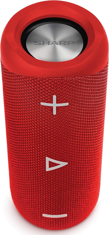 Sharp Gx Bt280 Rd Stereo Bluetooth Lautsprecher Kräftiger Bass Hochdynamischer Klangbereich 12 Stunden Spielzeit Staub Spritzwassergeschützt Mikrofon Für Telefonate Google Siri Rot Audio Hifi