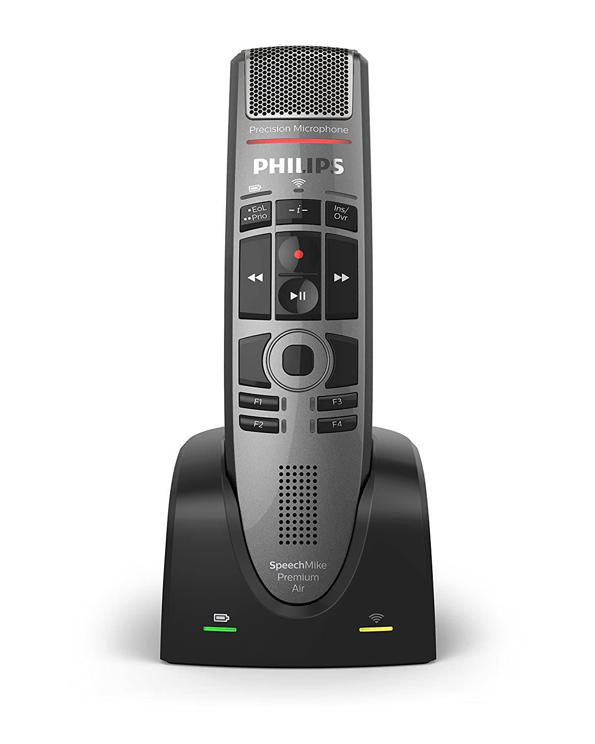 Philips SMP4000 SpeechMike Air Wireless Dictation Microphone with Push Button Design SMP4000/00