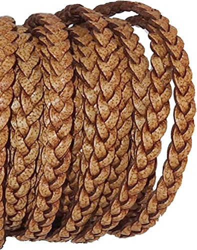 Craft County Flat Braided Leather Jewelry Craft Cord Crafts and Jewelry Making Belts Necklaces Bracelets Gray, 5mm X 5 Yards