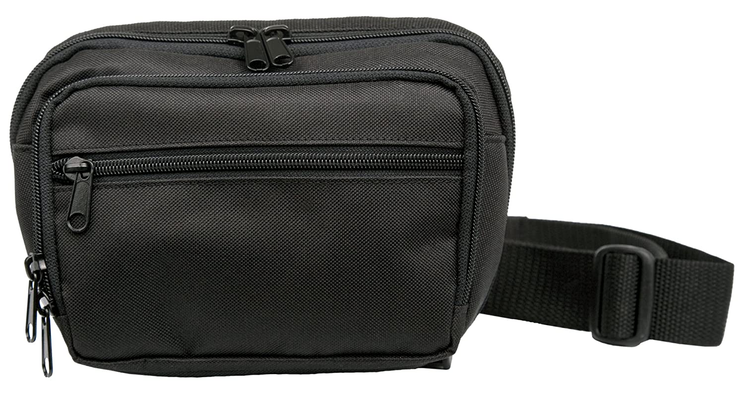 Uncle Mike s Off-Duty and Concealment Nylon Poly PVC Fanny Pack Compact Bag, Black