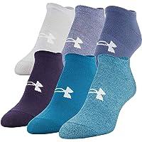 Under Armour Women`s Big Logo No-Show Socks, 6 Pack