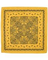 Declan Microfiber Handkerchief, Pocket Square, Cleaning Cloth (Brooks Yellow)