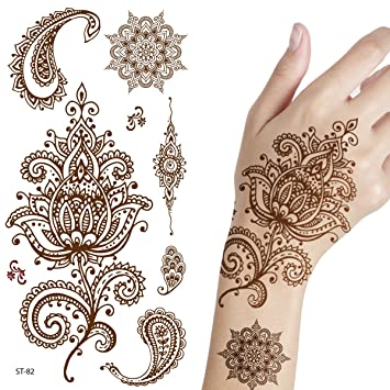 Amazoncom Supperb Temporary Tattoos Inspired Henna Beauty