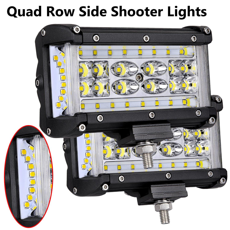 2 Pcs Mounting Brackets for LED Pods Universal Brackets Adjustable Base Brackets for LED Pods Light Bar