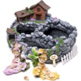 Kenley Fairy Garden House Planter - Miniature Gardening Starter Set with Pot, Fairies & Accessories - Mini Potting Kit for Succulents Cactus Plants Flowers - Arts and Crafts Gift for Girls Kids