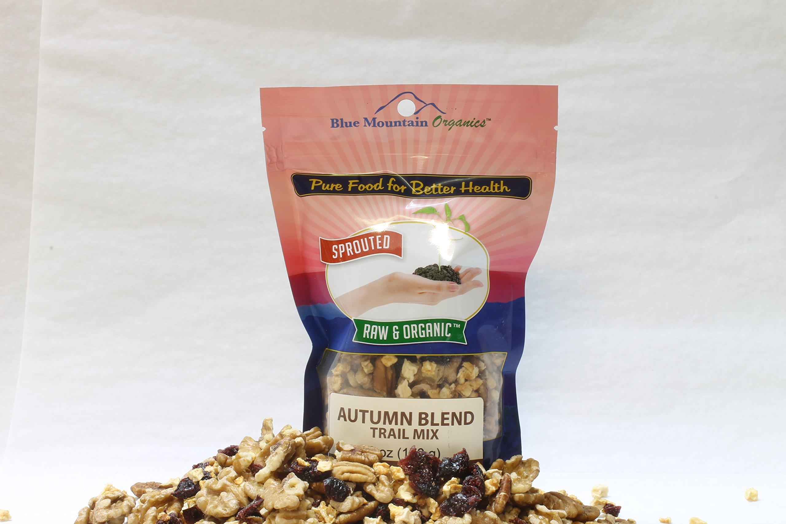 Blue Mountain Organics, Raw, Vegan, Paleo, Organic, Sprouted, Autumn Blend Trail Mix, (Pack of 3) 18 oz