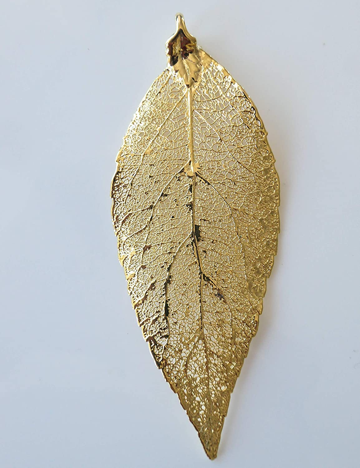 Real Holly Leaves Dipped In 24k Gold Carded 24k Gold Electroplated French Hook Earrings